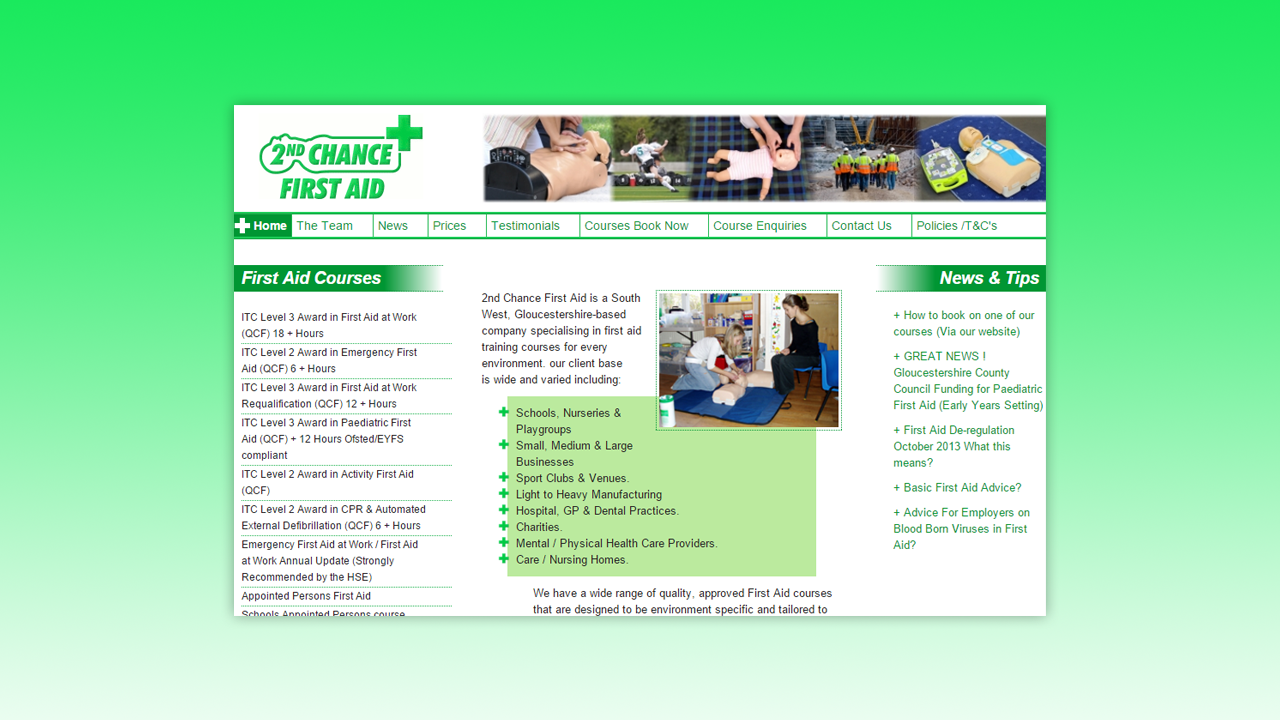 2nd Chance First Aid Web Design by OpenGlobal ECommerce