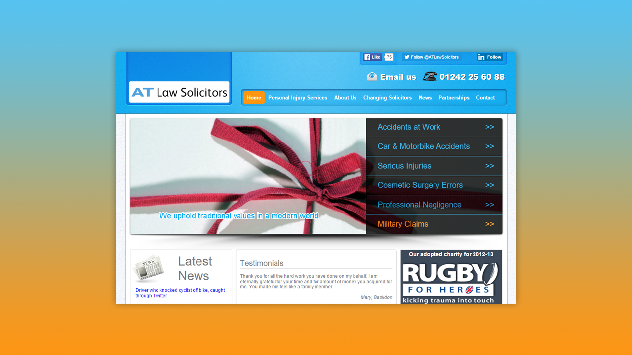 AT Law Solicitors Web Design by OpenGlobal ECommerce