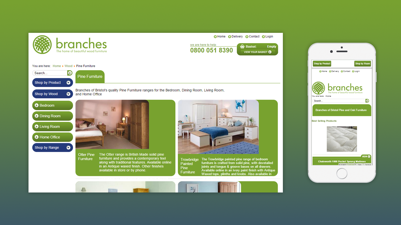Branches of Bristol ECommerce Website by OpenGlobal ECommerce