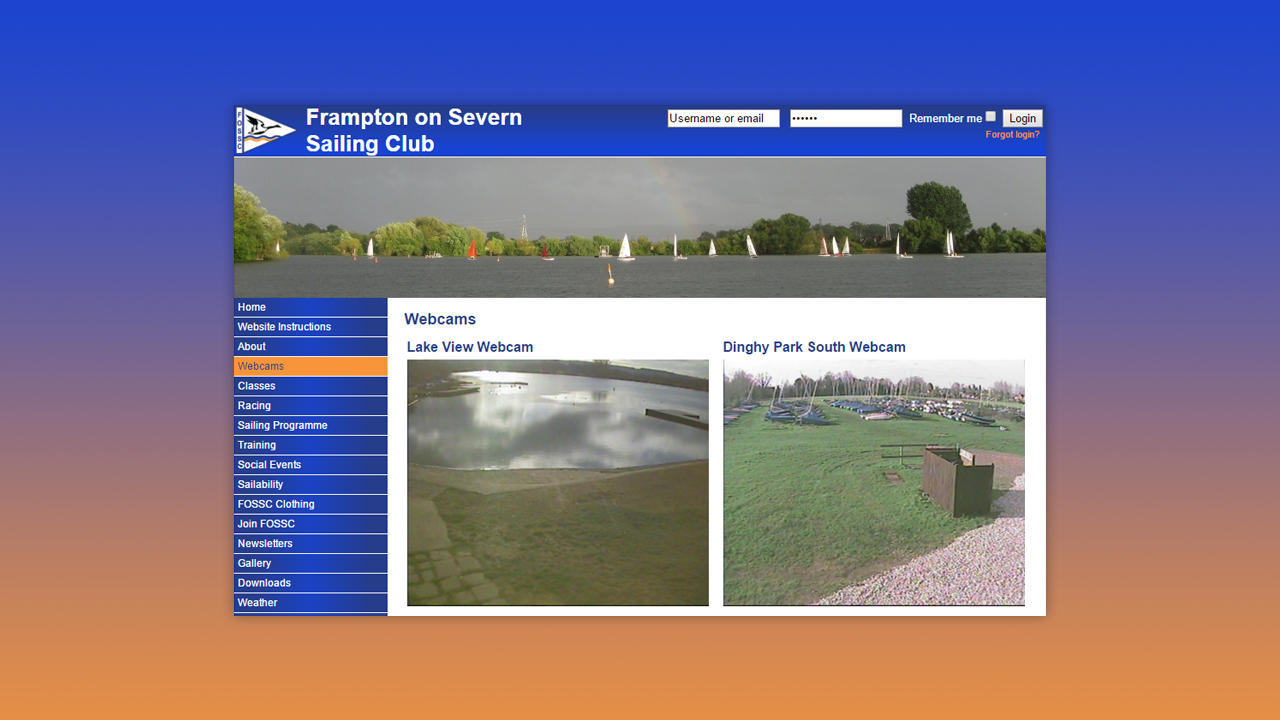 Frampton on Severn Sailing Club Web Design by OpenGlobal ECommerce