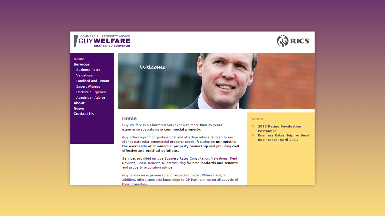 Guy Welfare Web Design by OpenGlobal ECommerce